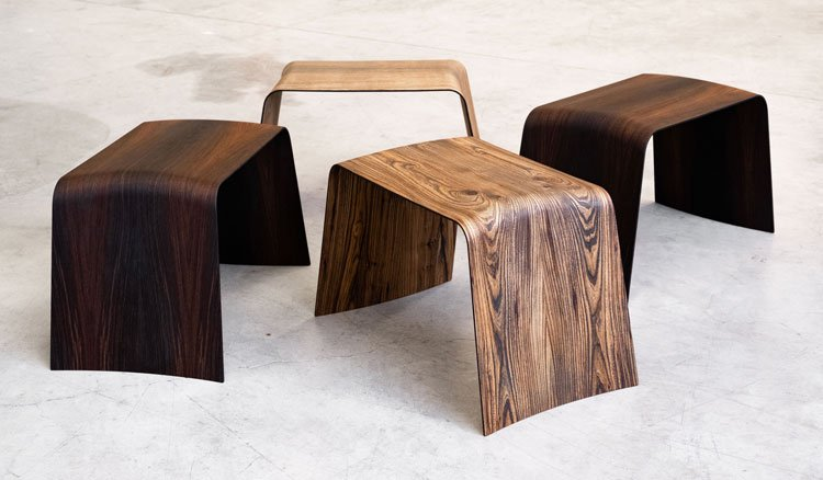 wooden furniture piano-forte in wood evolution is a collaboration of sandyshapes, Nicola Galizia design, arte9milano