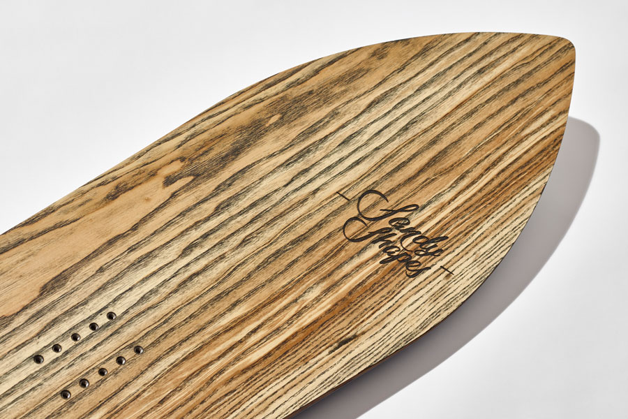 Wood evolution is the new sandyshapes technology for use real wood topsheet in handmade snowboards