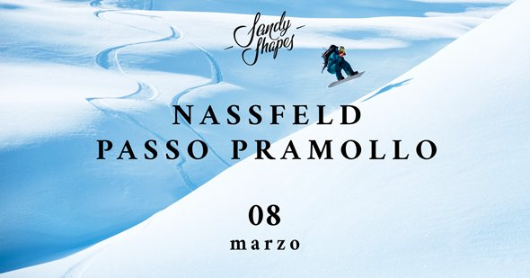 sandy shapes snowboard demo a passo pramollo