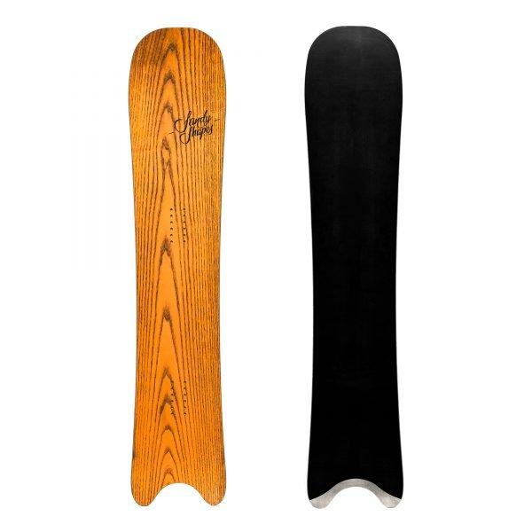 Egoista - snowboard direzionale in legno arancione