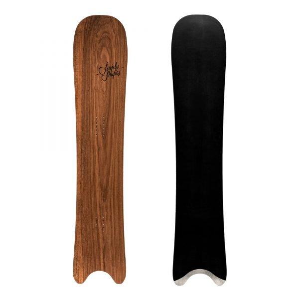 Egoista - snowboard direzionale in legno di noce