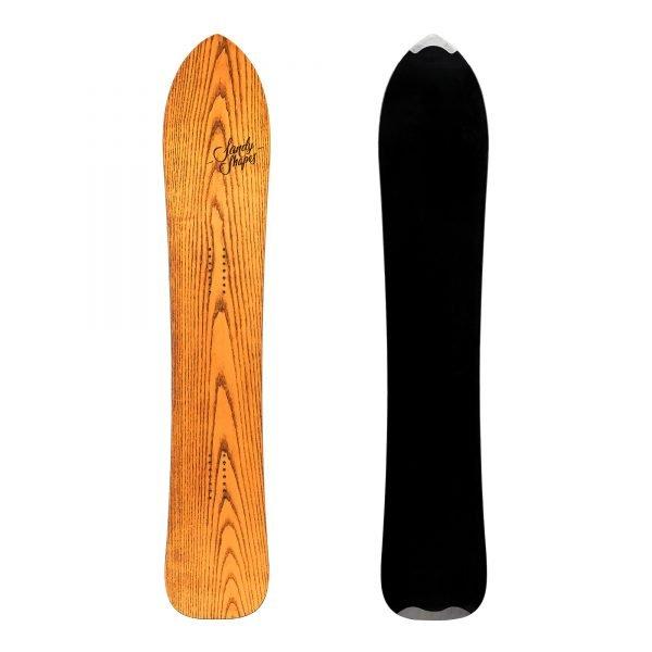 Fantastica - Snowboard direzionale da freeride e carving in legno arancione