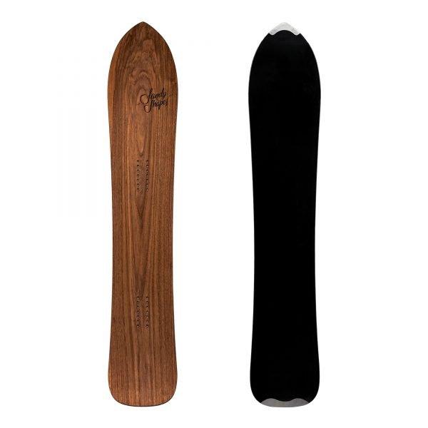 Fantastica - Snowboard direzionale da freeride e carving in legno di noce