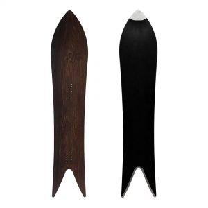 Magnifica Deluxe - snowboard a coda di rondine in legno fossile Abonos