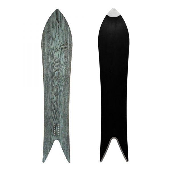 Magnifica - snowboard a coda di rondine in legno di frassino Tiffany