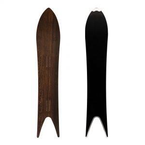 Regina Deluxe - Snowboard a coda di rondine in legno fossile Abonos