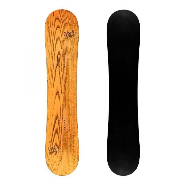 Ribelle - Snowboard freestyle twin-tip in legno arancione
