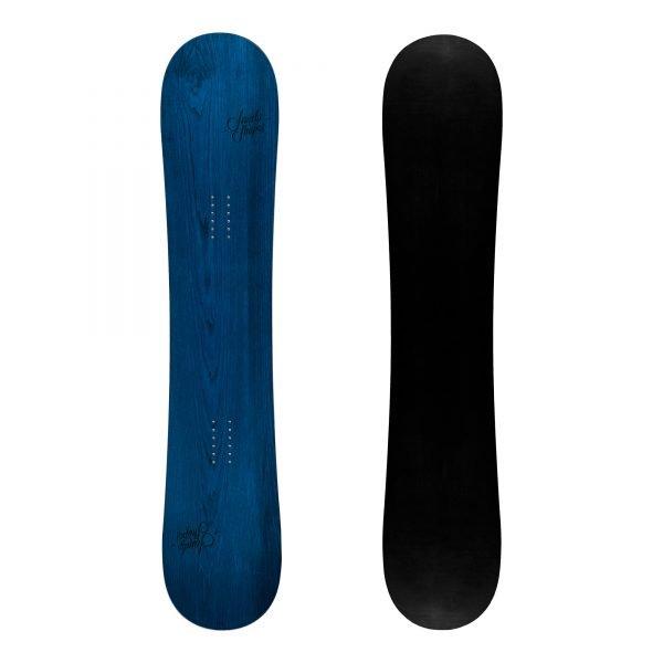 Ribelle - Snowboard freestyle twin-tip in legno blu