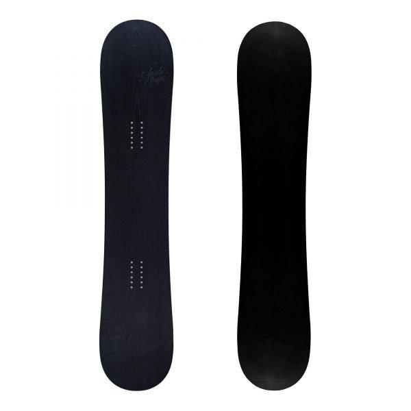 Ribelle - Snowboard freestyle twin-tip in legno nero