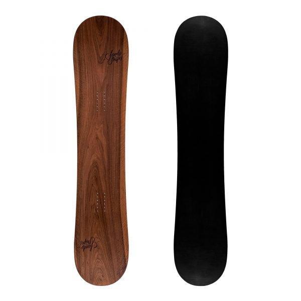 Ribelle - Snowboard freestyle twin-tip in legno di noce