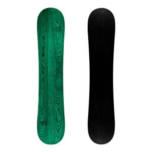 Ribelle - Snowboard freestyle twin-tip in legno verde