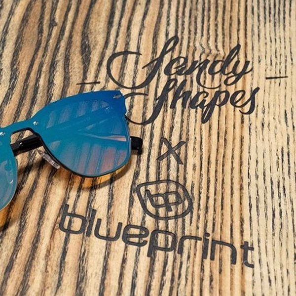 sandy shapes snowboard laser custom Blueprint eyewear