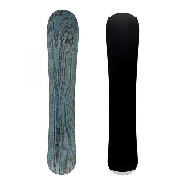 Virtuosa - Snowboard all-mountain direzionale wide in legno azzurro