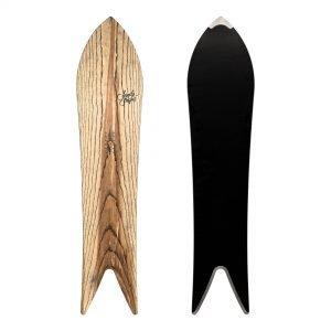 Divina snowboard a coda di rondine in legno di frassino naturale