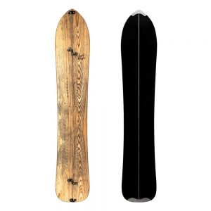 Sandy shapes snowboard fantastica splitboard in natural ash