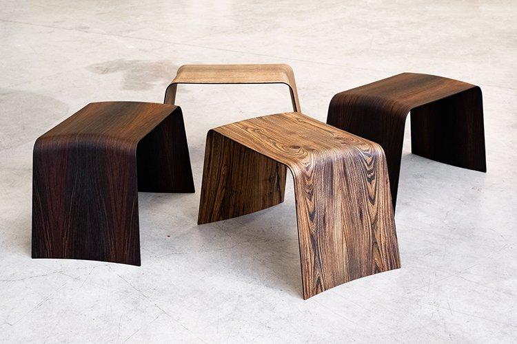 Sedie di design in legno su misura made in Italy by Sandy Shapes.