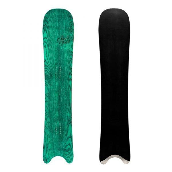 Egoista - snowboard direzionale in legno verde