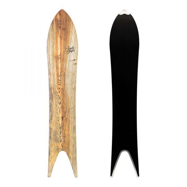 Regina - Snowboard a coda di rondine in legno frassino.