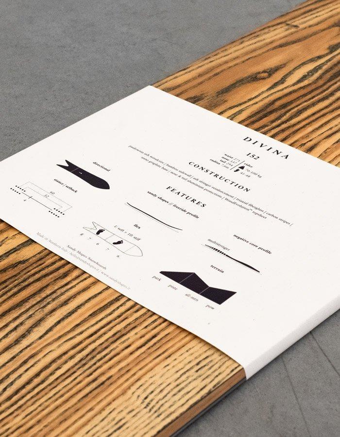 Packaging sostenibile per le tavole da snowboard Sandy Shapes