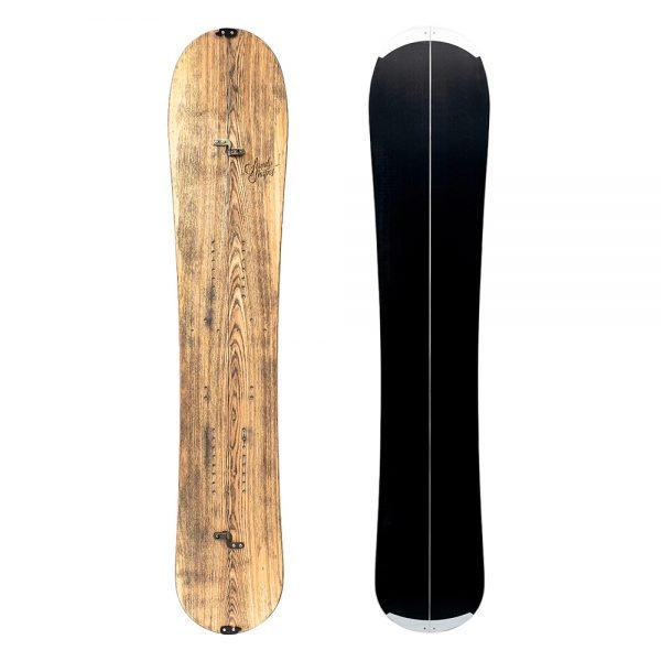 Sandy Shapes Virtuosa splitboard, freeride directional in natural wood