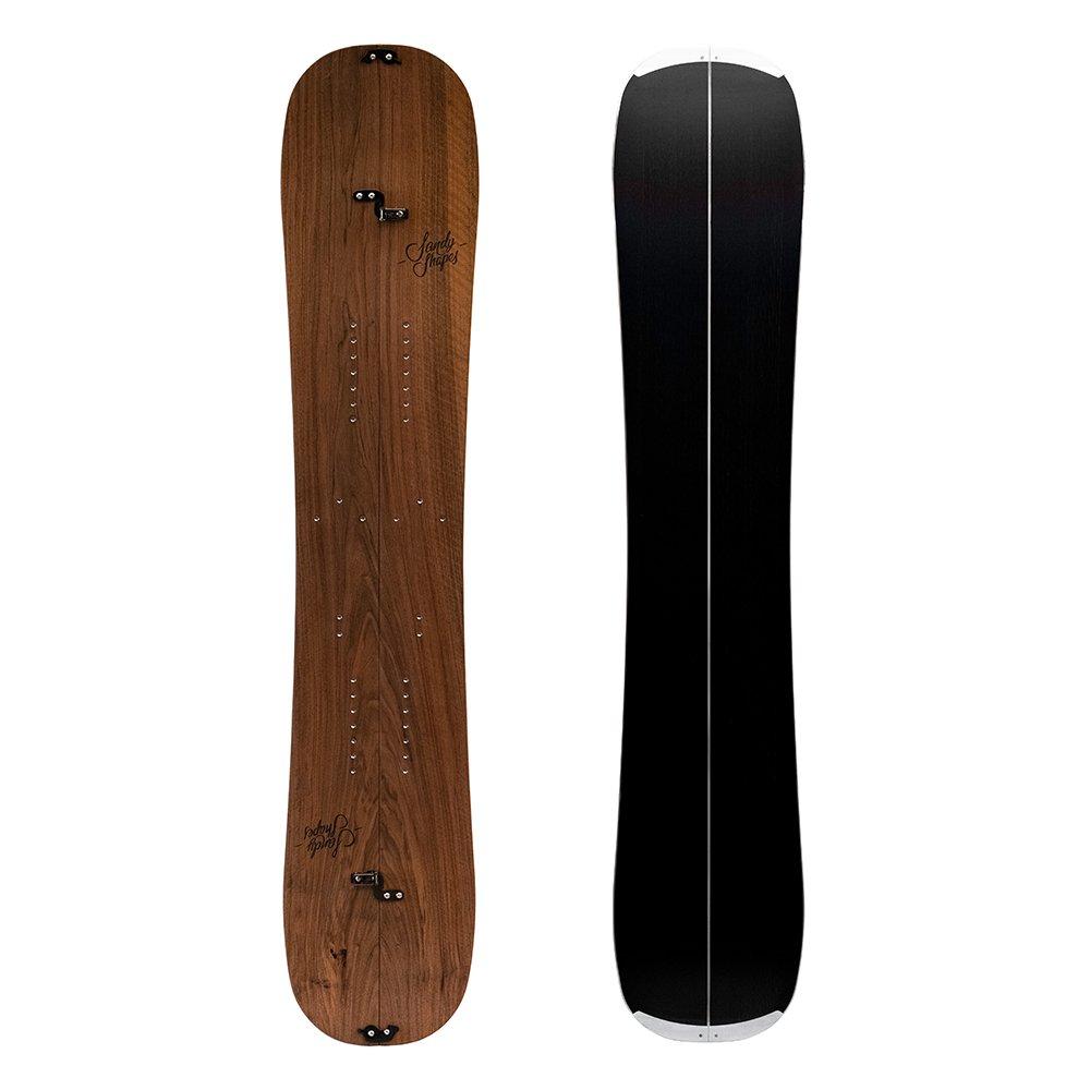 sandyshapes zingara, twin tip light splitboard in walnut wood