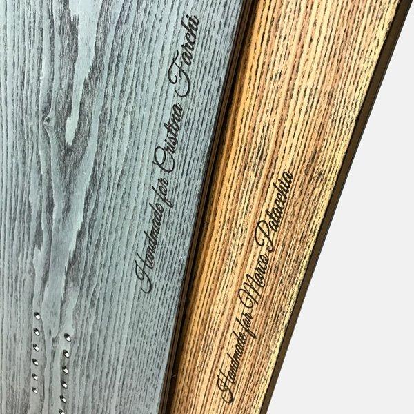 Tavole da snowboard in legno personalizzate by Sandy Shapes
