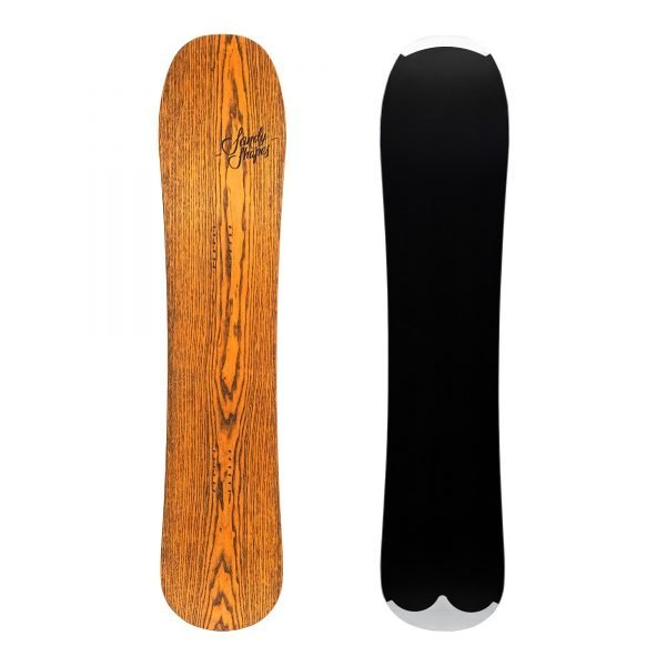 "Deliziosa - Snowboard fake twin-tip, extra wide e ""raducted"" in frassino arancione"