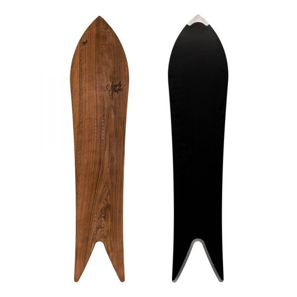 Divina snowboard a coda di rondine in legno di noce