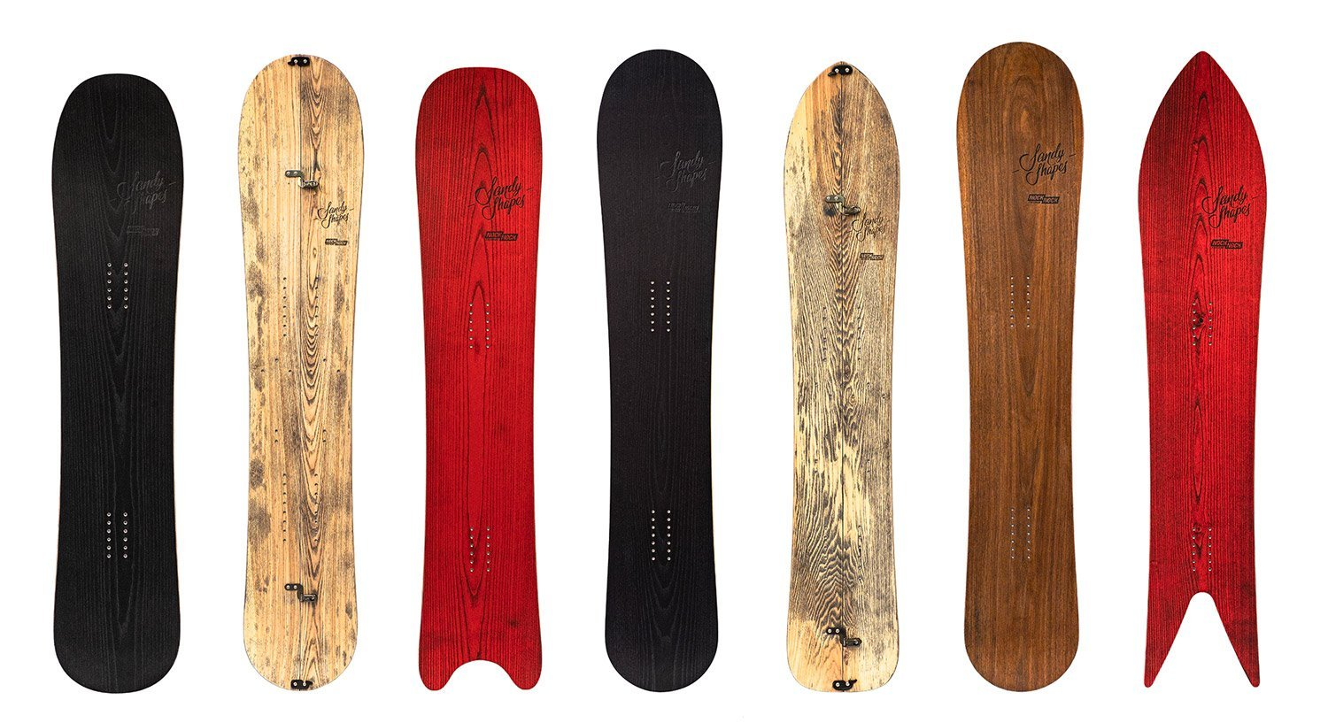 custom snowboard series by Sandy Shapes for NockNock shop