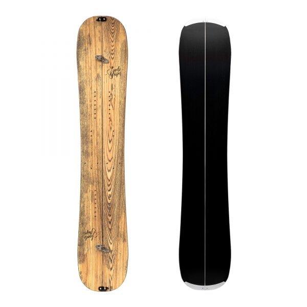 Zingara split, una Splitboard twin-tip e leggera in legno di frassino