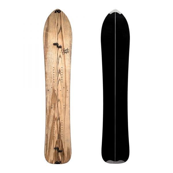 Fantastica Split, splitboard direzionale in legno di frassino naturale