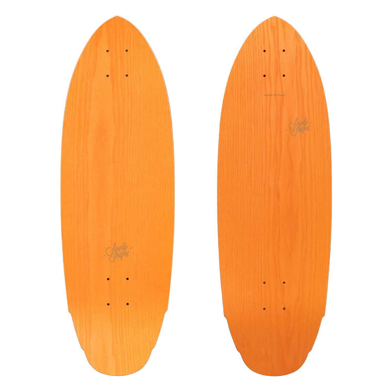 Mediterraneo: short surfskate in legno arancio