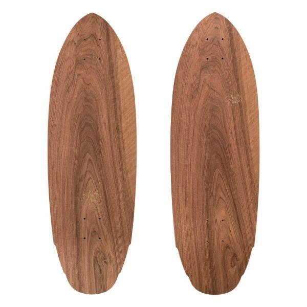 Mediterraneo: short surfskate in legno di noce