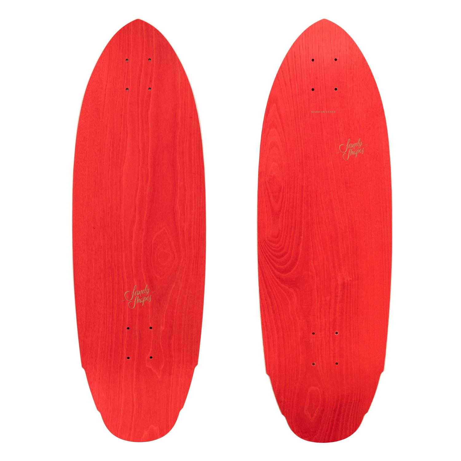 Mediterraneo: sustainable surfskate in red ash wood