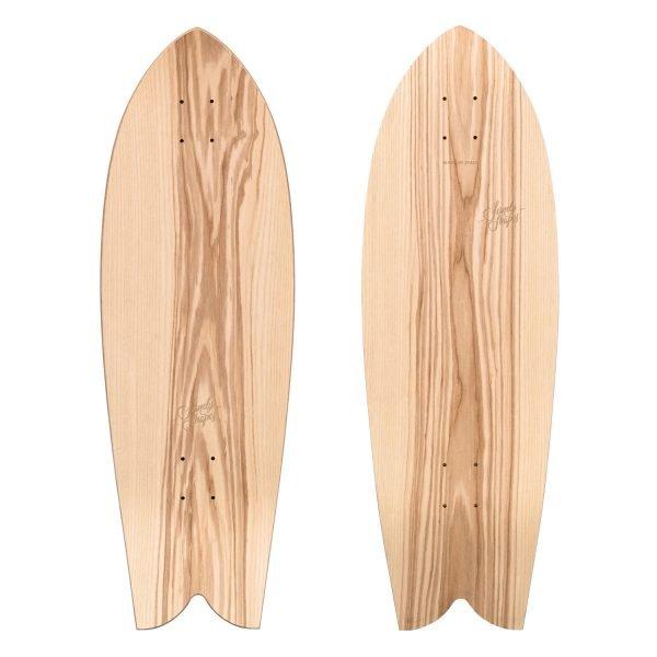 Tropicale: Fish-tail Surfskate color legno