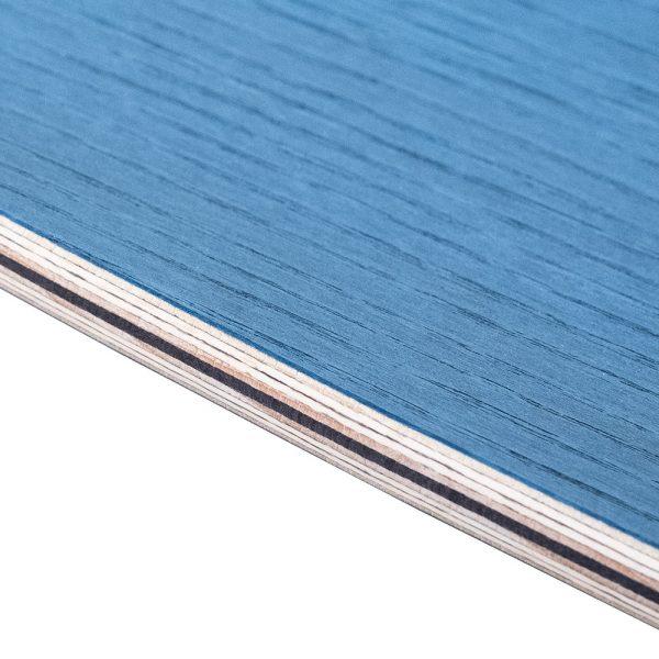 Strati di legno certificato di un Surfskate Sandy Shapes, color frassino blu